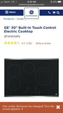 GE JP5030SJSS 30  Stainless Steel Electric Smoothtop Cooktop With Matching Hood