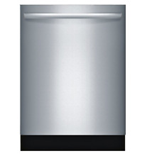 Bosch SGX68U55UC 800 Series 24  Stainless Steel Fully Integrated Dishwasher