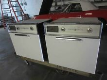 PAIR OF VINTAGE GE SLIDE IN WALL OVENS