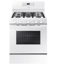 Samsung NX58J5600SW Gas Range 5 Burners Convection Oven  Flexible Cooktop Grill