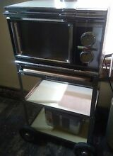 1968 Amana Radarange Vintage Microwave Oven Atomic with original cart stand