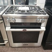 Miele 30  Pro Style Stainless Steel Dual Fuel Range  HR1924 DF