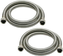 Universal 3 4 in  x 6 ft  Stainless Steel High Efficiency Washing Machine Hose