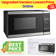 Insignia Black Microwave Oven Countertop Compact Stainless Steel 0 7 Cu Ft 700W