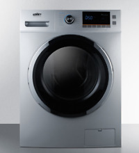 SUMMIT SPWD2201SS All in One Washer and Electric Ventless Dryer in Platinum 24
