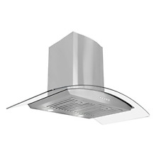 Cosmo 668A900 36  Wall Mount Range Hood with Glass  Stainless Steel