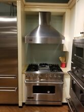 VIKING DUAL FUEL RANGE 36 INCH AND  VIKING  CHIMNEY STYLE HOOD 36 INCH