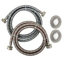 Houseables Washing Machine Hose  amp  Lint Trap Set  Washer Hoses  Braided  2