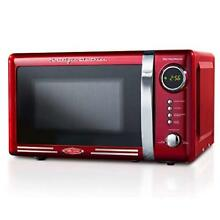 Countertop Microwave Oven Nostalgia Retro 700 Watt 0 7 Cubic Ft LED Display Red