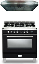 Verona Classic VCLFSGE365E 36  Pro Style Dual Fuel Gas Range Hood 2Pc Package