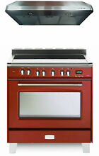 Verona Classic VCLFSEE365R 36  All Electric Range Oven 2pc Package Gloss Red