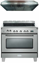 Verona Classic VCLFSEE365SS 36  Electric Range Oven Stainless Steel Hood Package