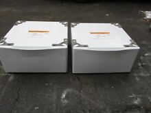 Set  2  Kenmore 796 51022900 or LG WDP4W g 27  Washer Dryer Pedestals White