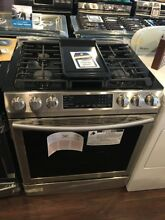 New Open Box Samsung Slide In Gas Range 5 8 cu  ft  with Fan Convection  NX58M94
