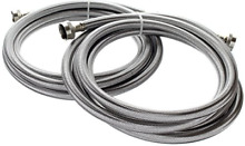 10 Foot Stainless Steel Washing Machine Hoses 2 Pack Burst Proof Accessories