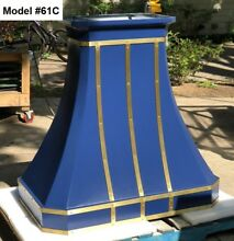 Blue Custom Range Hood for La Cornue  Motor Included   Model  61C