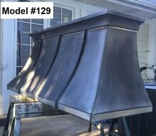 Zinc Hood  Range Hood for La Cornue  Custom Sizes  Fan Incl    Model  129