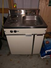 Kenmore Compact Kitchenette   All in One w  Sink  Refrigerator   2 Burner Stove
