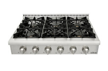Thorkitchen Pro Style Gas Rangetop with 6 Sealed Burners  36   Inch  Stainless