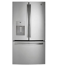 GE GFE26JSM SS 25 5 Cu Ft French Door Refrigerator LED Lighting Full Width Deli