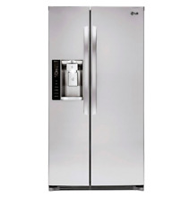LG LSXS263366S 26 2 cu  ft  Side by Side Refrigerator w  Ice   Water Dispenser