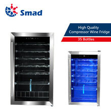 SMAD 35 Bottle Wine Fridge Wine Compressor Cooler Freestanding Beverage Home Bar