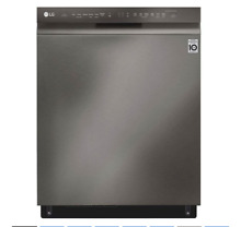 LG LDF5678BD QuadWash system uses Multi Motion arms 3rd Rack Stainless Steel