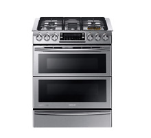 Samsung NY58J9850WS 30  Stainless Steel Dual Fuel Gas Sealed Burner Double Oven