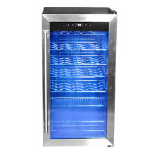 SMAD 28 Bottles Freestanding Compressor Wine Cooler Wine Fridge Kitchen Home Bar