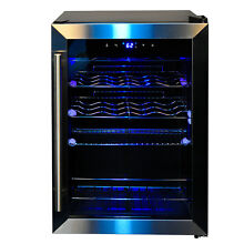 SMAD 19 Bottles Wine Cellar At Home Compact Wine Fridge Beverage Cooler Rack