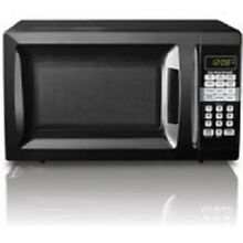 Dorm Microwave Oven 0 7 CU FT 700W Kitchen LED Display Stainless  LED timer  New