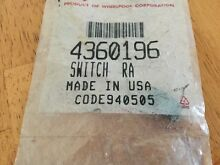 4360196 KitchenAid Retractable Down Draft Vent System Switch  New