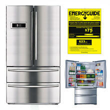 SMAD 36  Counter Width Stainless French Door Refrigerator with Auto Ice Maker