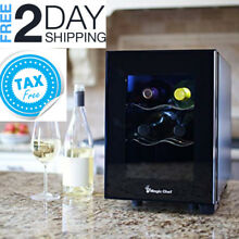 Small Wine Cooler Compact Countertop Beverage Fridge Mini Electric Kitchen