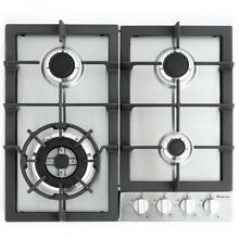Magic Chef 24  Built In Gas Cooktop in Stainless Steel