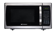 Emerson Radio ER105005 Counter Top Microwave  0 9 Cu Ft  900 Watt  Stainless and