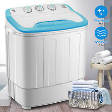 13 LBS Mini Portable Washing Machines Compact Twin Tub Laundry Washer Spin Dryer