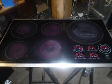 WOLF MODEL CT36E S 36  TOUCH CONTROL ELECTRIC COOKTOP BLACK WITH STAINLESS TRIM