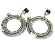Pinnacle 18 2826 Stainless Steel RV Washer Inlet Hoses   Set of 2