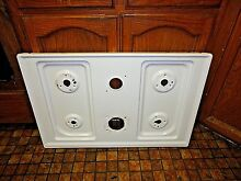 GE Gas Range Top White Part   WB62T10430 oven stove  used Excellent Condition
