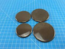 Genuine Whirlpool Range Oven Surface Burner Cap 8273344 8273345 8273343 Set of 4