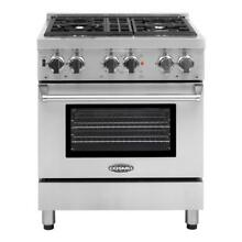 Cosmo DFR304 30  Commercial Style Dual Fuel Range Stainless Steel