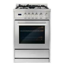 Cosmo COS 244AGC 24  Convection Gas Range Stainless Steel Reg 1399