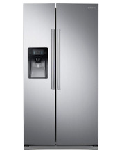 Samsung RS25J500DSR 25 cu  ft  Side by Side Refrigerator   Stainless Steel