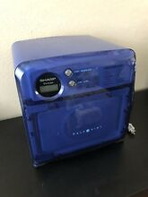 Sharp Half Pint Carousel Compact 0 5 Cu Microwave Oven Blue R 120DB Dorm RV Boat