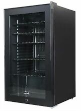 Newair AB 1200B 126 Can Black Beverage Refrigerator with Glass Door and Lock