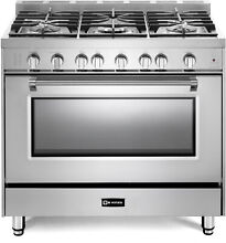 Verona Prestige Series VPFSGG365SS 36  All Gas 5 Burner Range Oven Stainless