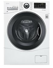LG WM3488HW 2 3 cu  ft  Compact All In One Washer Dryer Combo   White