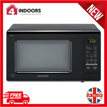 Daewoo KOR6M1RDBKR Duo Plate Touch Control Microwave 800W 20L  Black   Brand New