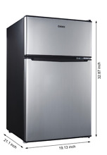 New 3 1 Cu Ft Compact Refrigerator Mini Fridge Office Dorm Small Cooler Freezer